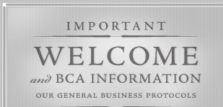 welcome and important B C A information